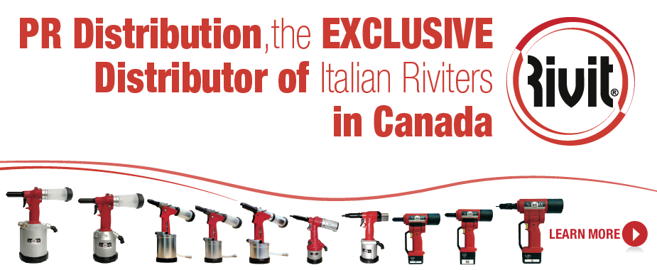 Rivit italian riveters available only at PR Distribution