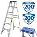 Picture of 6 Feet Light Duty Aluminum Ladder - Featherlight